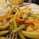 frittura gamberi polipo e verdure