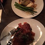 Delicious duck and underwhelming nightly special of pastry wrapped bison steak
