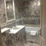 Noisy WC, water kept running, good shower.