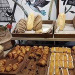 Selection of breads and pastries