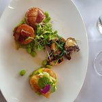 Scallops, Abalone and Salmon