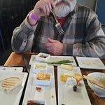 Husband, Bruschetta, Bruschetta Toppings, Cheese Plate and Lavash. The Crab Cake is gone.