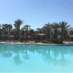 Half of the pool area of the Sentido Djerba Beach