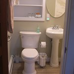Old Garden Beach Room 1st floor bathroom with grab bars