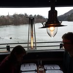 Diners Romantically Dining with Connecticut River in Background