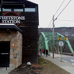 Entrance to Whetstone Station and bridge on Bridge St