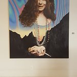 one of the cool pictures in the lobby area of several Austin celebrities like Janis Joplin and S