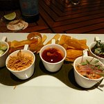 Ceviche sampler with sea bass and tuna.