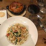 Shrimp Gnocchi, Duck Pot Pie