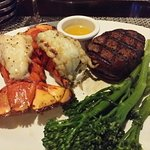 Filet and Twin Tails of lobster