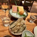tartare de saumon et thon avec caviar