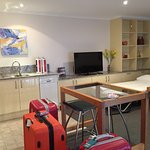 Great kitchen area; with dishwasher, microwave and decent size fridge