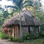 Outside of one hut
