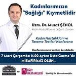 Uzm. Dr. Murat ŞENOL - 7 Mart Çarşamba  11:00 de Ayten Usta Gurme'de konferans verecektir.
