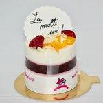 More than Perfect Cake - Yogurt Mousse, Blackberries Jelly, Mascarpone and White Chocolate Cream