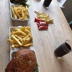 Fish burger and Katsu chicken burger!