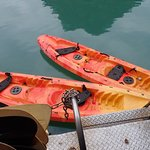 Kayaks are the sit on type