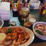 hot and cold shrimp, yuengling beer
