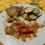 Dinner - Fish, potato, zucchini