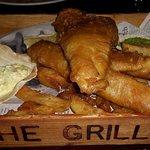 Posh fish and chips