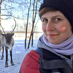 Photobombed by a reindeer. Awesome.