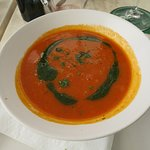 Lunch, starter: tomato soup