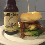 The perfect burger and local beer