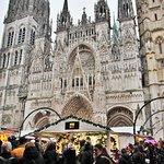 marché de Noël, cathédrale Notre-Dame de Rouen