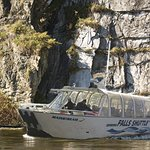Reversing Falls Shuttle - step aboard your harbour cruise at Falls View Park