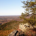 Grand views of the Carolina Piedmont lie in all directions atop Crowders Mountain.