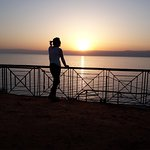 Looking over the Dead Sea to Jerusalem