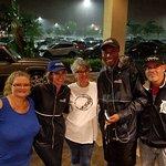 Lynn Maze & Clara Palez during Hurricane Irma with the News channel 8 crew. Sept 2017