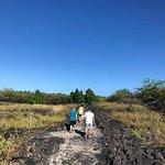 A hot walk along an ancient path... no amenities, no trash receptacle. Take water!