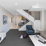 Two Bedroom Modern Suite - Living (Split-Level)