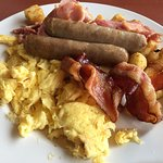 Meaty Breakfast - bacon, ham and sausage