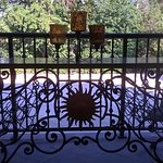 Iron gate upon entry foyer