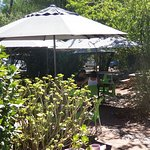 Shaded garden tables
