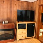 Electric Fireplace, TV, and mini fridge-Unit 3