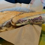 Cubano Sandwich - so good, melted cheese, roasted pork, pressed to perfection!