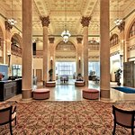 Welcome to our historical Lobby housed in a renovated bank building!