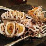 grilled stuff squid