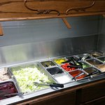 Well provisioned salad bar