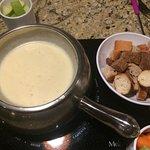 cheese fondue- classic alpine