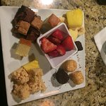 fruits and cakes for the chocolate fondue
