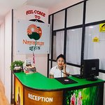 The front desk office of Nepalaya Spa