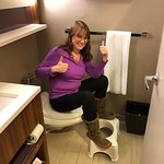 Handicapped Friendly --Low Step In Shower and Squatty Potty compatible