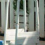 Plastic swimming pool ladder. Unsuitable for anybody over 50Kg. You can see damage/previous repa