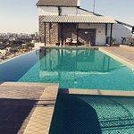 Top view swimming pool!