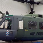 A chopper on display
