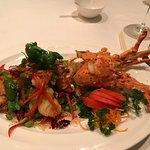 Deep-fried whole lobster
